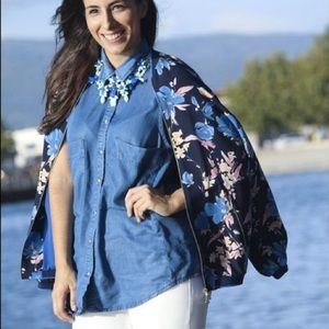 Zara Floral Bomber
